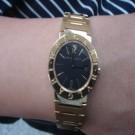 台中流當品拍賣 流當手錶 原裝 BVLGARI B.ZERO1 18K金 女錶 9成5新