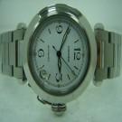 台中流當品拍賣 流當手錶 原裝 CARTIER 卡地亞 PASHA 不銹鋼 自動 男女 9成5新