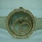 台中流當品拍賣 流當手錶 少有新款 CHOPARD 蕭邦 大鵝蛋 18K 玫瑰金 女鑽錶 9成新 ZR028