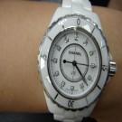台中流當品拍賣 流當手錶 原裝 CHANEL J12 33mm 石英 陶瓷 12鑽 女錶 9成5新 ZR149