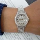 流當手錶拍賣 勁爆 原裝 勞力士 69156 MA PT950 純鉑金 鑽圈 鑽腳 女錶 盒單齊 9成9新