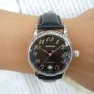 台中流當品拍賣 原裝 Montblanc 萬寶龍 STAR 經典黑面盤 自動 男女錶 9成新 喜歡價可議